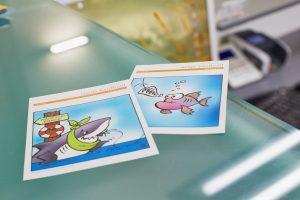 Karten Terminerinnerung Praxiseindrücke Empfang der Zahnarztpraxis Dr. dent. Helge Kaufhold Köln